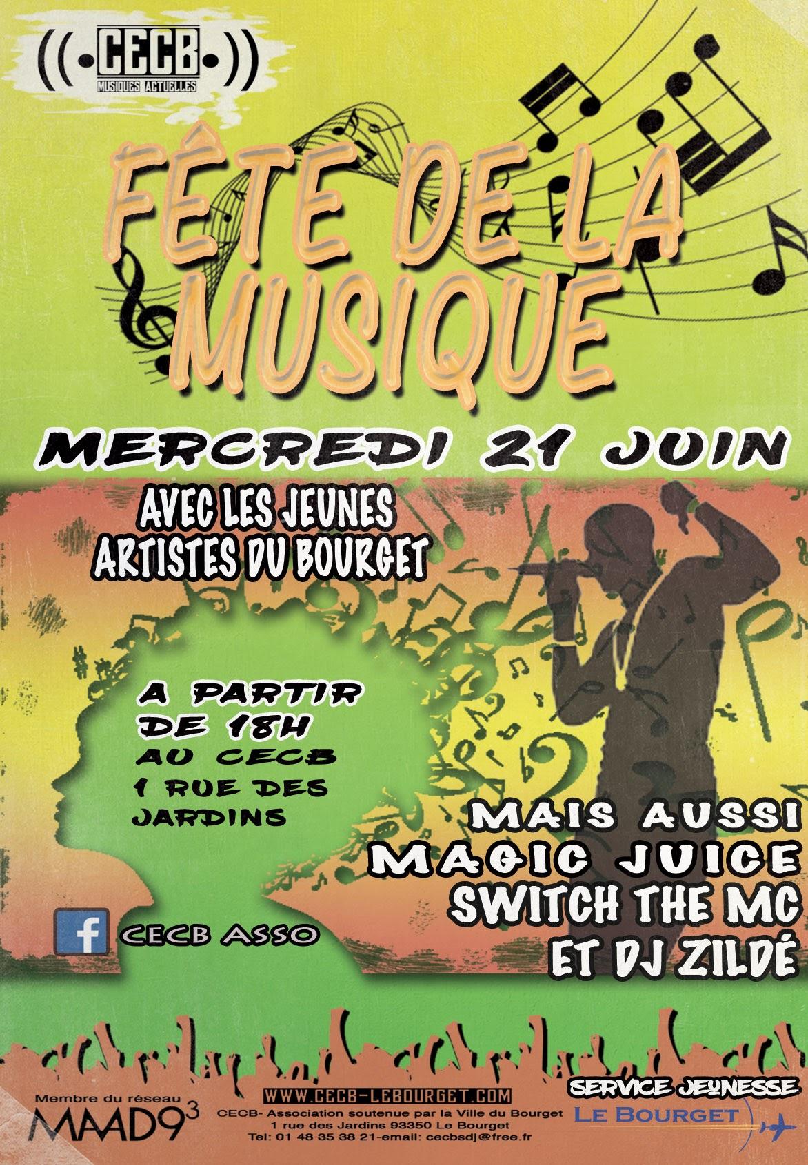 Flyer fête de la musique